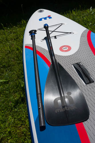 disassembled Mistral SUP paddle