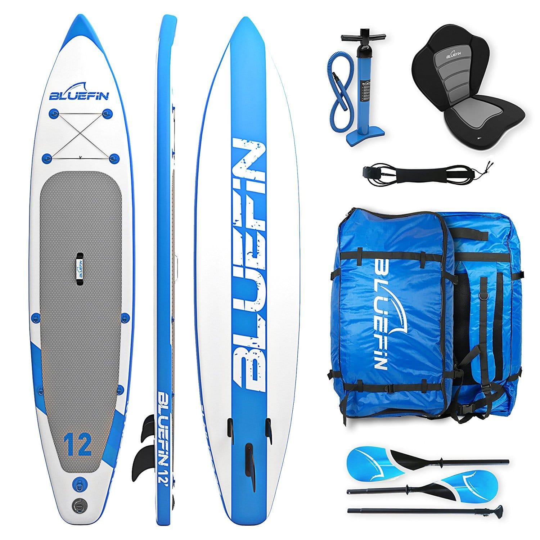 "Bluefin Cruise 10'8"" SUP Board Set | Aufblasbares Stand Up Paddle Board | 6 Zoll Dick | Fiberglas Paddel | Kajak Sitz | Komplettes Zubehör | 5 Jahre Garantie"
