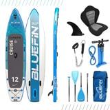 Bluefin Cruise Carbon SUP Board Set | Aufblasbares Stand Up Paddle Board | 6 Zoll Dick | Carbon Fibre Paddel | Kajak Sitz | Komplettes Zubehör | 5 Jahre Garantie (365cm)