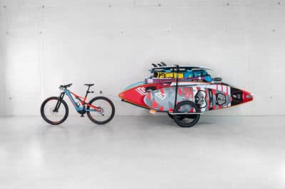 paddle board transport bike trailer