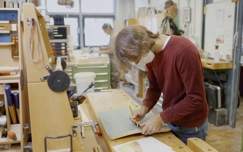 Herstellung oekologisches SUP Board